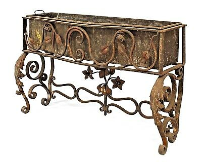 Italian Renaissance Style (19/20th Cent) Wrought Iron Low Fernery
