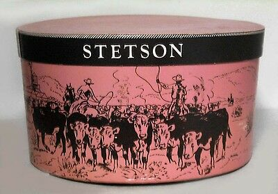 Set of 3 American Country style (20th Cent) painted hat boxes with cowboy and In