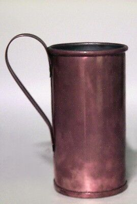 English Renaissance style straight copper tankard with handle (20th Cent)