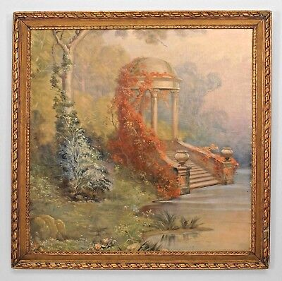 Italian Neo-classic (19/20th Cent) Style Oil Vertical Landscape Painting
