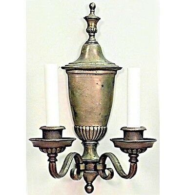 English Georgian Style (20th Cent) Brass Urn Shaped Wall Sconce
