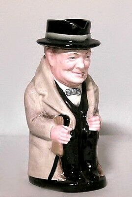 English (20th Cent.) Porcelain Toby Mug/Tankard of Winston Churchill