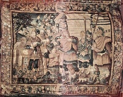 Continental Franco/Belgian Antique (17th Century) Woven Tapestry