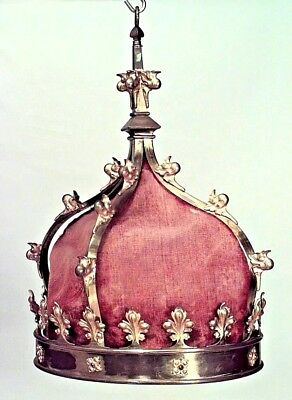Italian Renaissance Style (19/20th Cent) Bronze Dore Crown Shaped Chandelier