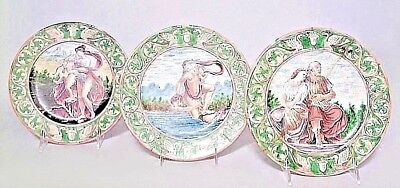 Set of 6 Italian Renaissance style (17/18th Cent) Majolica Porcelain Plates
