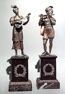 Pair of French Charles X Bronze Dore Figures