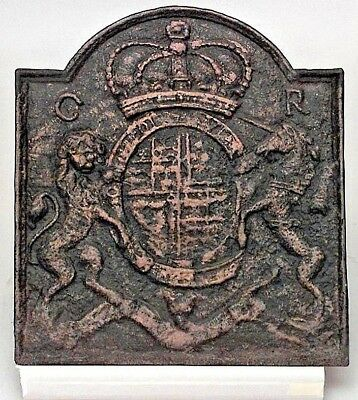 English Georgian Style (19th Cent) Coat of Arms Wall Plaque (Fireplace Back)