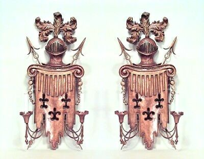 Pair of English Renaissance style (19/20th Cent) gilt metal and fruitwood carved