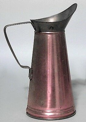 English Renaissance style (20th Cent) copper and brass pitcher
