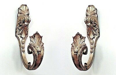 Pair of French Louis XVI (19th Cent.) Style Bronze Dore Drapery Tie Backs