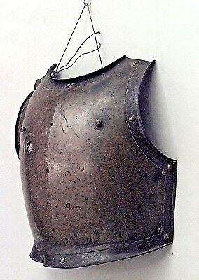 English Renaissance Style (19th Cent.) Brass and Iron Breastplate of Armor