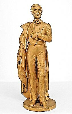 American Victorian Style (19/20th Cent) Gold Painted Figure of Abraham Lincoln
