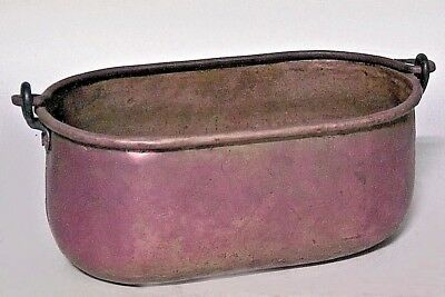 American Country Style Brass Oval Pot (19/20th Cent.)