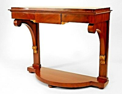 Continental German Style (1st Half,19th Cent) Mahogany Console Table