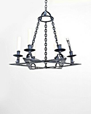 "Italian Renaissance Style (19/20th Cent.) ""Star of David"" Design 6 Light Fixture"