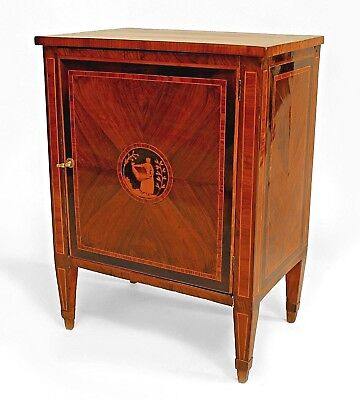 Italian Neo-classic (18/19th Cent) kingwood veneer small commode with a single d
