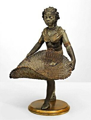 French Directoire styloe (19/20th Cent) metal centerpiece with nubian figure of