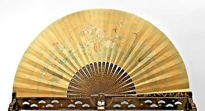 Asian Japanese (c.1870) Monumental Exhibition Quality Folding Fan (Floor Screen)
