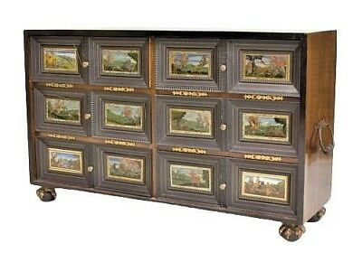 Continental (Possibly Flemish,19/20th Cent.) Ebonized Cabinet