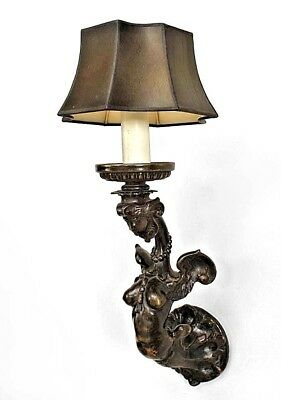 Pair of Italian Renaissance Style (19/20th Cent) Bronze Wall Sconces
