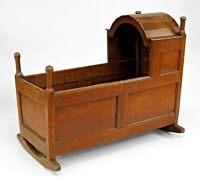 American Country (Wm. & Mary style-17/18th Cent) oak panelled cradle