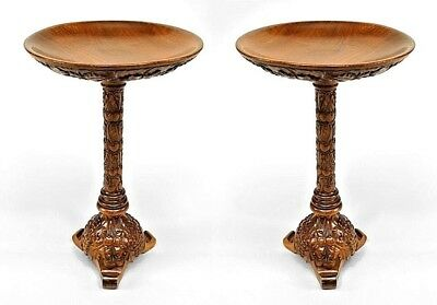 Pair of Italian Neo-Classic Style (19/20th Cent) Walnut Low End Tables
