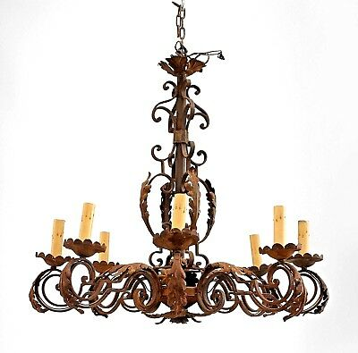 Italian Renaissance Style (20th Cent.) Wrought Iron Chandelier