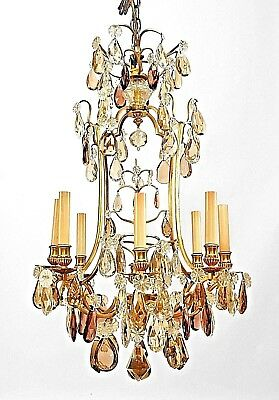 French Louis XV (19th/20th Cent.) Gilt Bronze 8 Light Chandelier