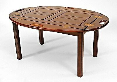 English Georgian Style (20th Cent) Mahogany Butler Style Coffee Table