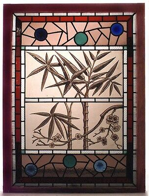 English Victorian Stained and Leaded Glass Window