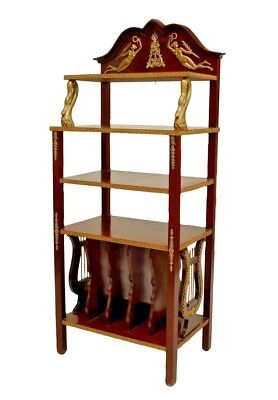 French Empire style (19th Cent) mahogany etagere with bronze trim and shaped bac