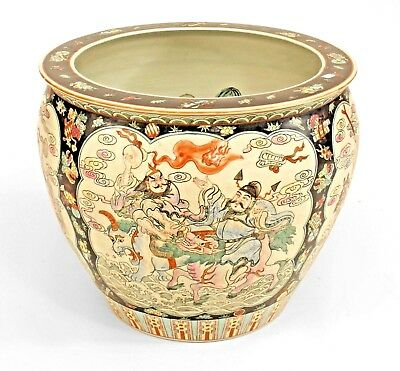 Asian Chinese Style (19/20th Cent.) Black & White Jardiniere