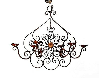 Italian Renaissance Style (19/20th Cent) Chandelier with 6 Scroll Arm