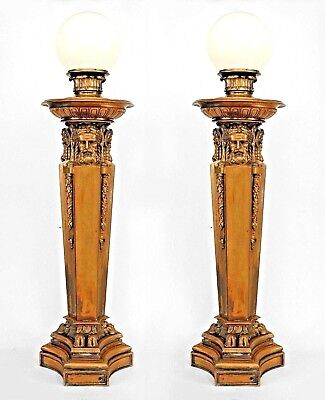 Pair of American Victorian Neo-Classical Style (19th/20th Cent) Torchiere