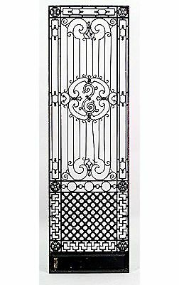 19 American Victorian Style (19/20th Cent) Iron Gates with Filigree Multi-Scroll