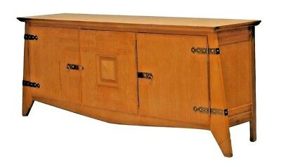 Belgium 1950s Oak Sideboard with 3 Doors