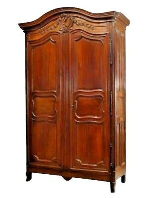 French Provincial (18th Cent) Two Door Large Scale Armoire in Walnut