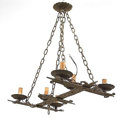 Italian Renaissance Style (19/20th Cent.) Double Cross Form 6 Light Chandelier