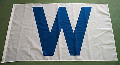 """Chicago Cubs Wrigley Field Blue """"W"""" WINdy City Flag 3'X5' Northsiders"""