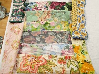 PERFECT Huge LOT of 44 Mixed PRINTED FLOWER FLORAL COTTON Dinner Napkins