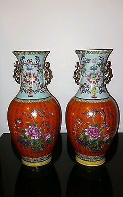 Antique. Pair of Matching Chinese vases11x5lnch""