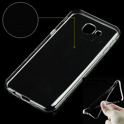 Ultra-thin Shockproof Hybrid Rubber Clear TPU Back Case Cover For Samsung Galaxy