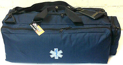 Needi Medical Emergency Paramedic Oxygen O2 Trauma Gear Carry Bag Navy Blue