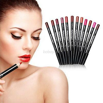 12 Colors/Set Beauty Lipliner Waterproof Long Lasting Lip Liner Pencil Makeup