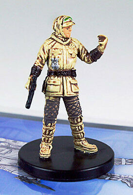 Star Wars miniatures Minis the Force Unleashed Hoth Trooper Officer #09 & card