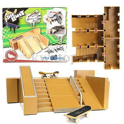 Skate Park Ramp Parts for Tech Deck Fingerboard Finger Board Ultimate Parks Toys