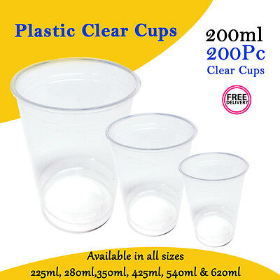 Disposable Plastic Cups Clear Cup 200 ml 200 Pc Drinking Water Cup Party