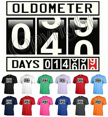 c655602a OLDOMETER 40 Graphic tee birthday party T-shirt Adult Funny Humor P265