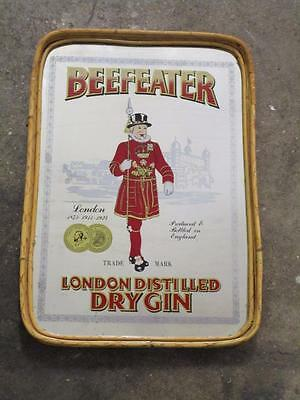 C42039 RETRO Bar Mirror Tray BEEFEATER DRY GIN Man Cave