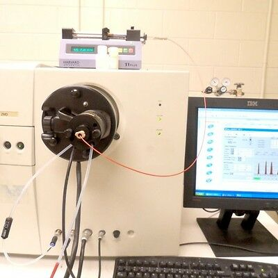 Mass spectrometer test service for two sample or sample and standard